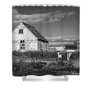 Two Sheds In Blue Rocks #01 Shower Curtain
