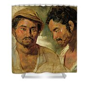 Two Studies Of A Man, Head And Shoulders Shower Curtain