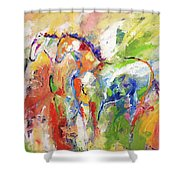 Two Together Always Shower Curtain