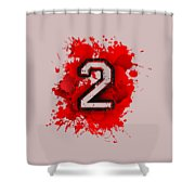 Twoo Over Red Stain Shower Curtain