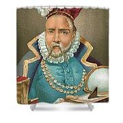 Tycho Brahe Illustration Shower Curtain
