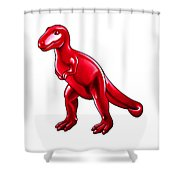 Tyrannosaurus Cartoon Shower Curtain