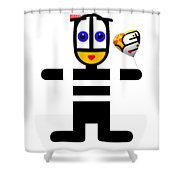 uBABE Love Balloon Shower Curtain