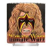 Ultimate Warrior Writing Version Shower Curtain
