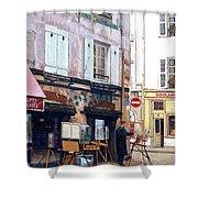 Un Artiste A La Place Du Tertre Paris. Shower Curtain