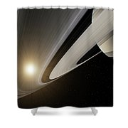 Under The Rings Of Saturn Shower Curtain