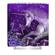 Unicorn Forest Shower Curtain