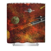 Unidentified Flying Object Shower Curtain