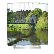 Union Chain Bridge At Horncliffe On River Tweed Shower Curtain