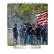 Union Infantry Advance Shower Curtain