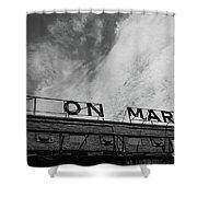 Union Market The Original Sign Washington Dc Shower Curtain by Edward Fielding