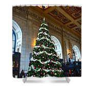 Union Station Decorates For Christmas In Kansas City Shower Curtain