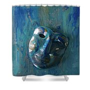 Shades Of Blue Sold Shower Curtain