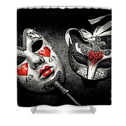 Unmasking Passions Shower Curtain