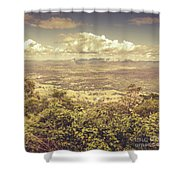 Up Above The Land Down Under Shower Curtain