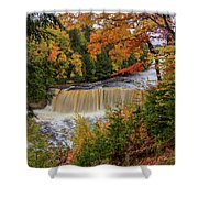 Upper Tahquamenon Autumn Colors -0007 Shower Curtain