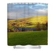 Upper Wensleydale And Lovely Seat From Hawes In Yorkshire Dales Shower Curtain