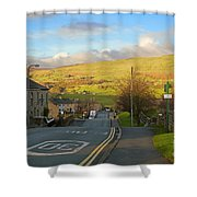 Upper Wensleydale From Hawes Yorkshire Dales National Park Shower Curtain