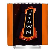 Uptown Signage 5 Shower Curtain