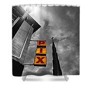 Urban Night Colorized  Shower Curtain