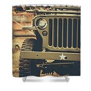 Us Army Jeep World War II Shower Curtain