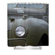 Us Army Staff Car World War II Shower Curtain