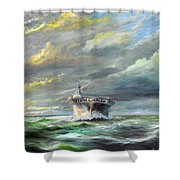 Uss Enterprise Returns To Pearl Shower Curtain