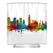 Utrecht The Netherlands Skyline Shower Curtain