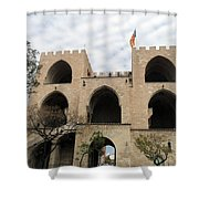 Valencia Fort Building Shower Curtain