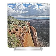 Valley Colorado National Monument Sky Clouds 2892 Shower Curtain