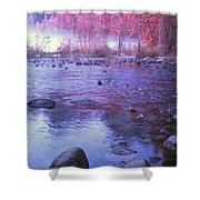 Valley River In Yosemite Shower Curtain