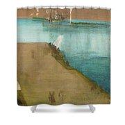 Valparaiso Harbor - Digital Remastered Edition Shower Curtain