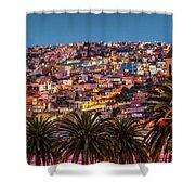 Valparaiso Illuminated At Night Shower Curtain