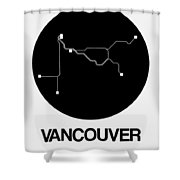 Vancouver Black Subway Map Shower Curtain