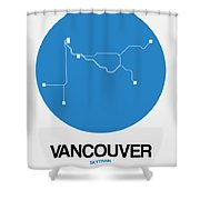 Vancouver Blue Subway Map Shower Curtain