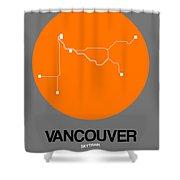 Vancouver Orange Subway Map Shower Curtain