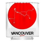 Vancouver Red Subway Map Shower Curtain