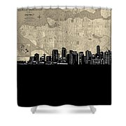Vancouver Skyline Map Shower Curtain
