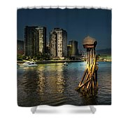 Vancouver Sunset Shower Curtain by Juan Contreras