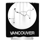 Vancouver White Subway Map Shower Curtain