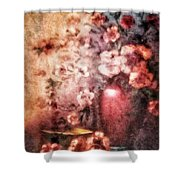 Vase And Flowers Shower Curtain