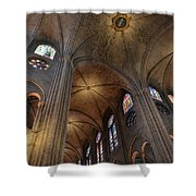 Vaults Of Notre Dame De Paris Before The Fire Of 2019 Shower Curtain