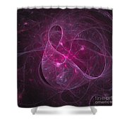 Veiled Pink Shower Curtain