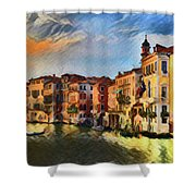 Venice A8-1 Shower Curtain