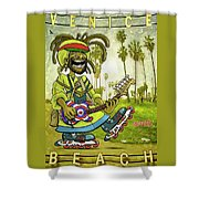 Venice Beach Rasta Roller Shower Curtain