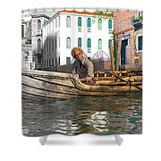 Venice Pause In The Evening Shower Curtain