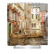 Venice The Little Yellow Duck Shower Curtain