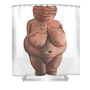 Venus Of Willendorf Shower Curtain
