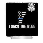 Vermont Police Appreciation Thin Blue Line I Back The Blue Shower Curtain
