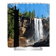 Vernal Fall, Yosemite National Park Shower Curtain